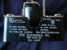 4 NTE  R04-5D30-24 SPDT 30A-24VDC Heavy Duty Open Frame RLY1323 Plus 1 AB, 1 ECG