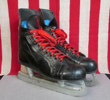 Vintage Sherbrooke Bobby Orr Ice Hockey Skates Sz.8 Black Rally Pro Great Shape!