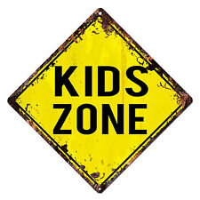 DS-0002 KIDS ZONE Diamond Sign Rustic Chic Sign Bar Shop Home Decor Gift
