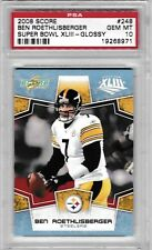 2008 SCORE SUPER BOWL XLII GLOSSY BEN ROETHLISBERGER #248 PSA 10 GRADED GEM MINT