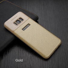 Samsung Galaxy S8 & S8 Plus Luxury Slim Hybrid Hard Leather Back Case Cover For