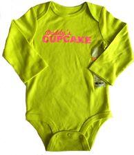 Carter's Girls Bodysuit 24 Months Lime Green Daddy's Cupcake Pink Glitter