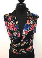 MAX DINE' Camicia Donna Viscosa Blusa Flower Rayon Woman Shirt Sz.M - 44