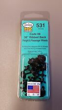 "Kadee #531 HO Scale Metal Wheels - 36"" Ribbed Back Semi-Scale Code 88 (12 Pcs)"