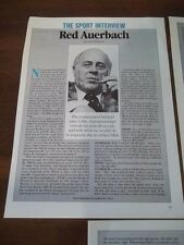 VINTAGE 1978 3 PAGE ARTICLE/INTERVIEW/CLIPPING with RED AUERBACH BOSTON CELTICS