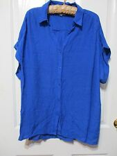 Ladies Millers Blue light weight short sleeved cotton shirt size 22