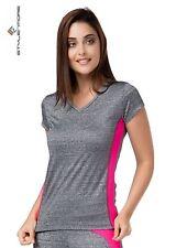 Extra leichte Damen-Kurzarm-Tops aus Polyester für Fitness & Yoga