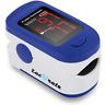 Fingertip Pulse Oximeter Blood Oxygen Saturation Monitor Batteries Lanyard