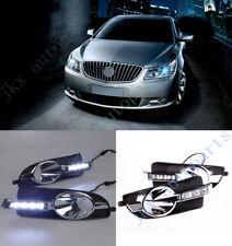 White LED DRL Daytime Running Lamp Turn Signal j Lamp For Buick LaCrosse 10-13