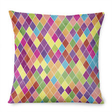 Vintage Funky Pattern 80's Satin Throw Pillow Case Sofa Cushion Cover Home Decor