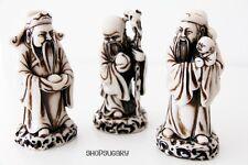 3 stückSkulpturen Fu Lu Shou Chinesische götter Kunstharz mit Handarbeit