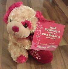 Greeting/Gift Card Holder Stuffed Animal Plush Dog Valentines Anniversary Gift