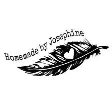 """custom name plume feather hand made by personalized pre ink self inking stamp 2"""""""