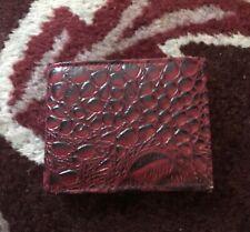 Mens Genuine Leather Crocodile Print Wallet