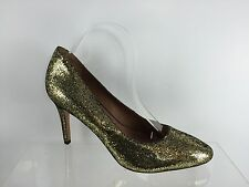 Corso Como Womens Gold Glittered Heels 10