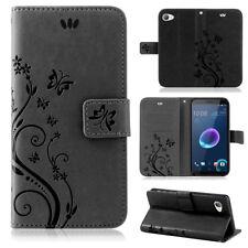 HTC Pouch Mobile Phone Case Wallet Cases Flowers Flip Cover Book Case