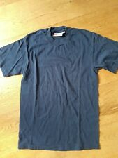 Designer Hanes Beefy Navy Blue Cotton T Shirt Size Small
