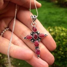 Ruby Oval Sterling Silver Fine Necklaces & Pendants