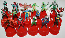 Masked Rider Kamen Bottle Cap Figure Set of 17 2002 Series Bandai