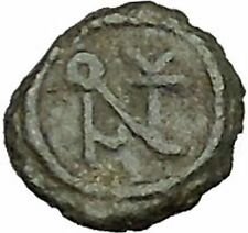 Anastasius I 491AD Ancient Medieval Byzantine Coin Monogram in Circle i39664
