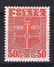 POLOGNE POLSKA Yvert n° 368 neuf avec charnière