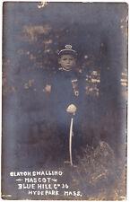 A Little Boy, Claton Smalling, Mascot, Blue Hill Fire Co 36, Hyde Park MA RPPC