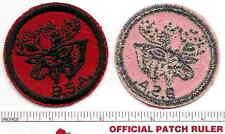 Vintage Red Twill Patrol Patch  MOOSE  - 1950s Era - Gum Back