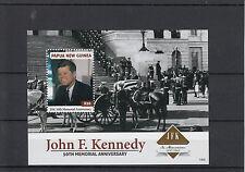 Papua Nuova Guinea 2013 MNH John F. Kennedy cinquantesimo anniversario commemorativa IV foglio JFK