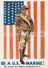 Be A US Marine World War 1 US Army Vintage Poster 18x24