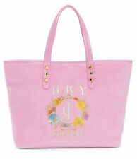 Juicy Couture Girl Bag Pink Velour Pammy Tote Flowers NEW