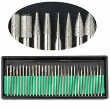 30PC MINI ROTARY DRILL DIAMOND BURR ACCESSORY KIT fits DREMEL & HOBBY TOOLS