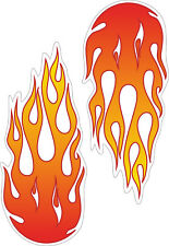 2 X LARGE FLAMES - cool funny kids, car, van decal stickers