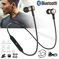 NEW Sweatproof Wireless Bluetooth 4.1 Earphones Headset Headphones Sport Gym Mic