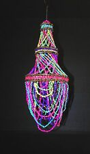 "20""  MULTI COLORED SEA SHELL BEAD CHANDELIER, WIND CHIME"