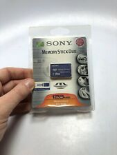 Sony 128MB Memory Stick Duo Card - (MSH-M128A) Magicgate New Sealed