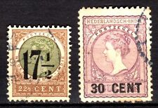 Dutch Indies - 1917 Definitives overprinted new values - Mi. 130-31 FU