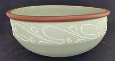 Large Vintage Denby Stoneware Pottery Ferndale Fruit / Salad Bowl 23 cm Green