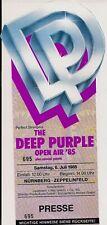 DEEP PURPLE & Mountain & Meatloaf Used Free Ticket Nürnberg 06.07.1985 (#695)