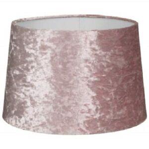 "Crushed Velvet Effect Dual Purpose Lampshade Lightshade Shade 13"" - Blush Pink"