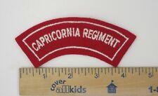 AUSTRALIAN ARMY Shoulder FLASH PATCH Post WW2 Vintage CAPRICORNIA REGIMENT