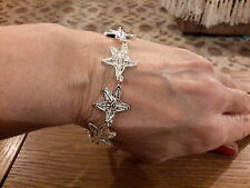 Brand new  8inch Silver 925 stamped ornate starfish  bracelet with gift box.
