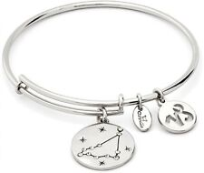 Chrysalis Capricorn Synthetic Crystal Expandable White Bangle Bracelet
