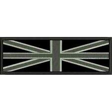 [Patch] 2 BANDIERE INGLESI toni di grigio cm13,5x7,5 e 10,5x6 toppa ENGLAND -154
