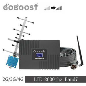 4G LTE 2600mhz Band7 65db Cell Phone Signal Booster Repeater Amplifier Antenna
