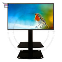 Universal Table Top TV Stand DVD Bracket Glass Pedestal LCD LED VESA Mount UKES