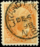 Canada #82 used F-VF 1898 Queen Victoria 8c orange Numeral SON CDS