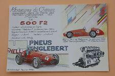 B980PJ Miniatures château Carte postal Ferrari 500 F2 GP belgique N°4 1952 Heco
