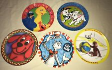 lot 5 Collectible Plates ZAK DESIGNS clifford curious george big bird cat in hat