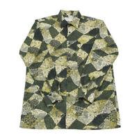 Vintage ETON Patterned Shirt | Medium | Retro Crazy 80s 90s Collar Button