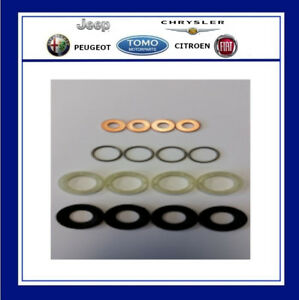 Genuine PEUGEOT / CITROEN 1.6 HDI Injector Washer Seal and Protector (SET 4)